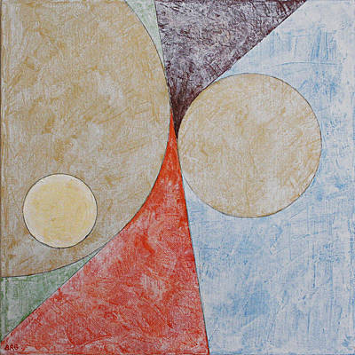Suprematist Composition No 2 With A Circle Poster by Ben Gertsberg