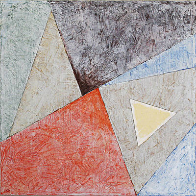 Suprematist Composition No 4 With A Triangle Poster by Ben Gertsberg