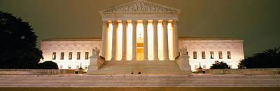 Supreme Court Building Illuminated Poster