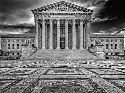 Poster featuring the photograph Supreme Court by Peter Lakomy