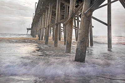 Surf City Ocean Pier Poster by Betsy Knapp