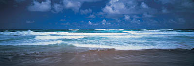 Surf On The Beach, Barbados, West Indies Poster