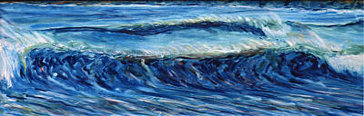 Surf Waves Croyde Poster