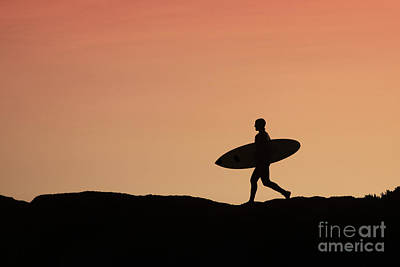 Surfer Crossing Poster by Paul Topp