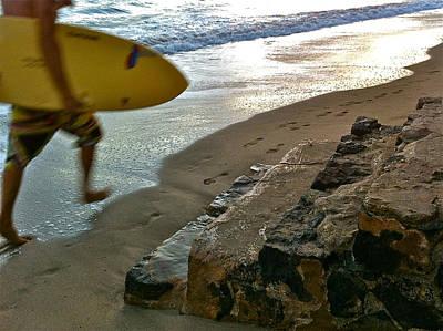 Surfer In Motion Poster