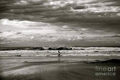Surfers B And W Poster by Colleen Mars