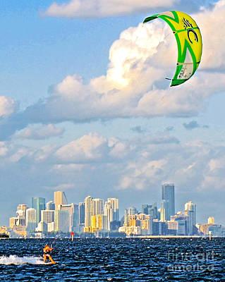 Surfin' Miami II Poster by Dieter  Lesche