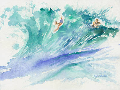 Poster featuring the painting Surf's Up by Lynn Buettner
