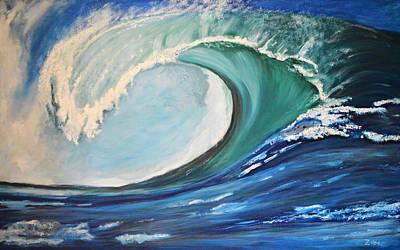 Surf's Up Poster by Zilpa Van der Gragt