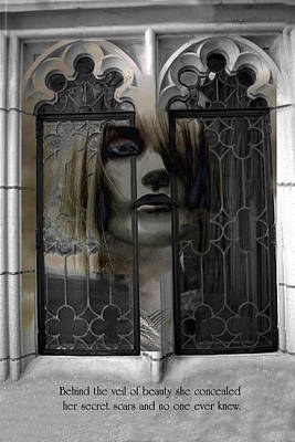 Surreal Fantasy Gothic Inspirational Art Message Poster by Kathy Fornal