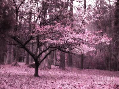 Surreal Fantasy Pink Trees Nature Landscape Poster