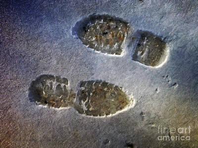 Surreal Footprints Poster