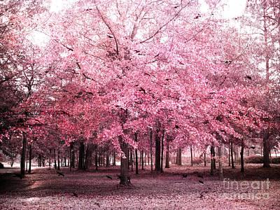Surreal Pink Tree Landscape - South Carolina Pink Nature Landscape Poster