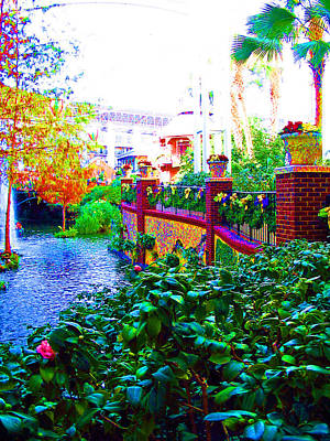 Surreal Scenery Inside The Opryland Hotel In Nashville Tennessee Poster