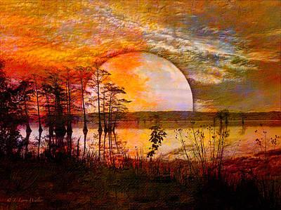 Surrealistic Sunrise Poster by J Larry Walker