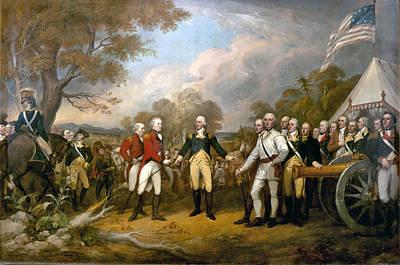Surrender Of General Burgoyne Poster by John Trumbull