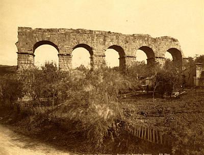 Surroundings Constantine, Ruins Of A Roman Aqueduct Poster