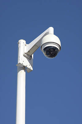 Surveillance Cctv Camera Poster by Alex Bartel
