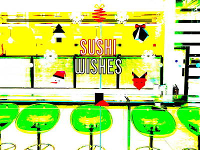 Sushi Christmas Wishes In London Poster by Funkpix Photo Hunter
