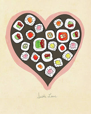 Sushi Love Poster by Lisa Barbero