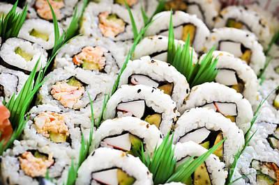 Sushi Platter Poster by Elena Elisseeva
