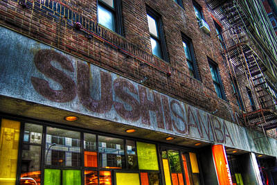 Sushi Samba Manhattan Poster by Randy Aveille
