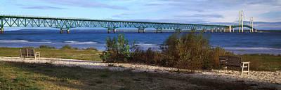 Suspension Bridge Across A Strait Poster
