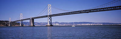 Suspension Bridge Across The Bay, Bay Poster by Panoramic Images