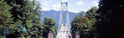 Suspension Bridge With Mountain Poster by Panoramic Images