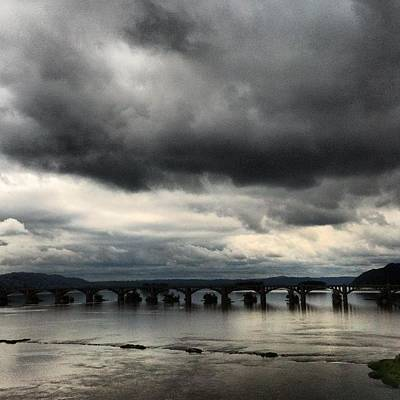 Susquehanna River Bridge Poster
