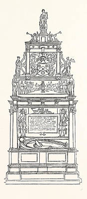 Suttons Monument, Charter House, London Poster by Litz Collection