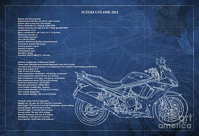 Suzuki Gsx 650f 2011 Technical Information Poster