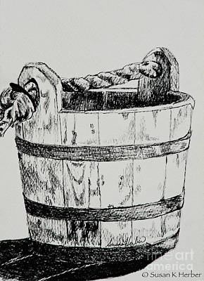 Swabber's Bucket Poster by Susan Herber