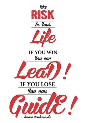 Swami Vivekananda Inspiration Quotes Poster Poster