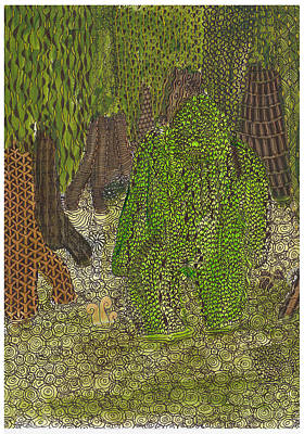Swamp Monster Poster