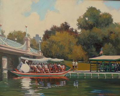 Swan Boat Finale Poster by Dianne Panarelli Miller