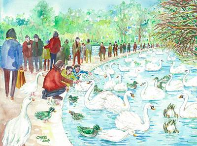 Swan Lake Poster by Giovanni Caputo