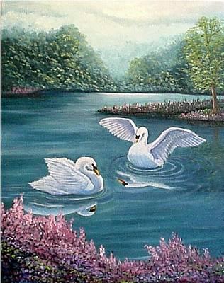 Swan Lake Serenity Poster