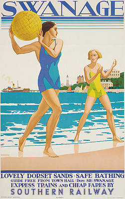 Swanage Poster by Kenneth Shoesmith