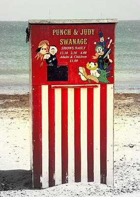 Swanage Punch And Judy Poster by Linsey Williams