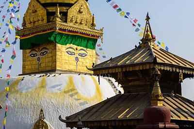 Swayambhunath Stupa In Kathmandu Poster