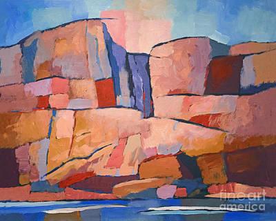 Swedish Cliffs Poster
