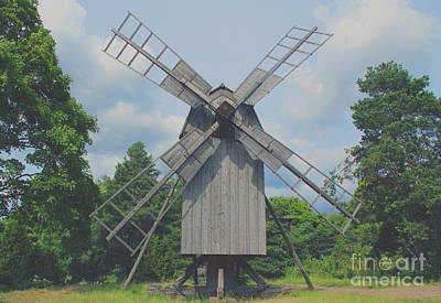 Poster featuring the photograph Swedish Old Mill by Sergey Lukashin