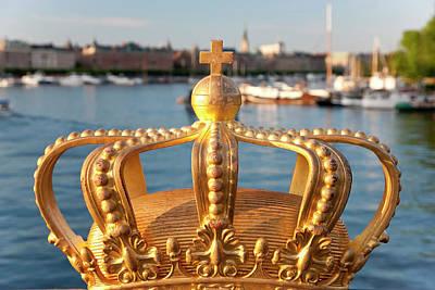 Swedish Royal Crown On Skeppsholmen Poster by Peter Adams