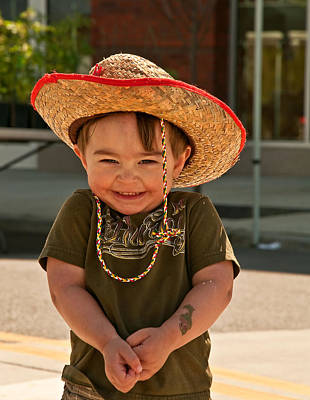 Sweet Boy Cowboy Hat Poster