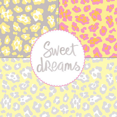 Sweet Dreams - Animal Print Poster by Linda Woods
