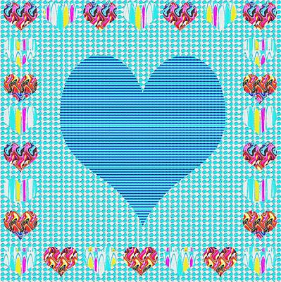 Sweet Heart Blue Poster