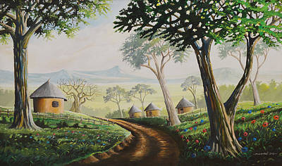 Poster featuring the painting Sweet Home by Anthony Mwangi