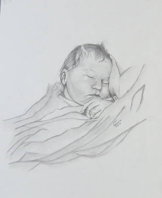 Poster featuring the drawing Sweet Sleep 2 by Sharon Schultz