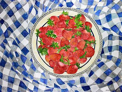 Sweet Strawberries Poster by Janet Immordino